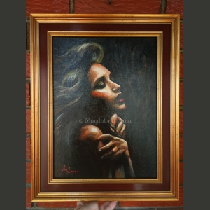 "framed original painting ""Amber"" by Magdalena Luna"